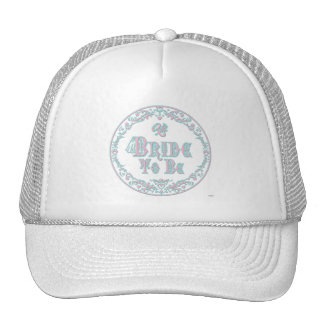 Bride To Be With Veil, Fancy Pink - Teal Vintage Trucker Hat
