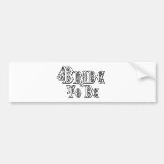 Bride To Be With Veil, Fancy White - Black Outline Bumper Sticker