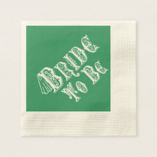 Bride To Be With Veil, Fancy White Type Paper Napkin