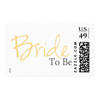 Bride To Be (Yellow Script) Postage
