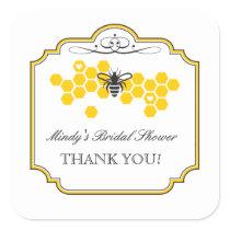 Bride to Bee Bridal Shower Favor Sticker