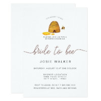 Bride To Bee, Bridal Shower Invitation