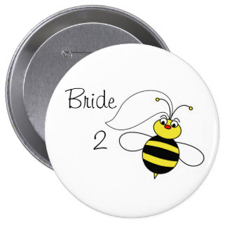 Bride to Bee Pinback Buttons