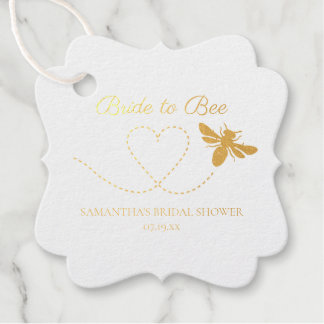 Bride to Bee | Foiled Bridal Shower Favor Tags