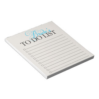 Bride To Do List Notepad