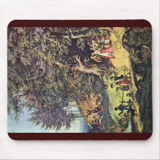 Bride Train In Spring By Richter Ludwig Mouse Pads