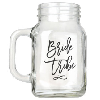 Bride Tribe Bachelorette Mason Jar