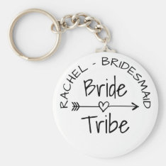 Bride Tribe Bachelorette Party Favor Keychains at Zazzle