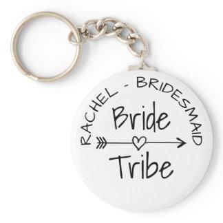 Bride Tribe bachelorette party favor keychains