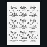 """Bride Tribe bachelorette party temporary tattoos<br><div class=""""desc"""">Bride Tribe temporary tattoos for wedding, bridal shower, hen do, engagement or bachelorette party. Cute favor gift idea for brides entourage; bridesmaids, maid of honor, flower girl, mother of the bride, sister, cousin, mom, friends, family, team members etc. Trendy logo with vintage typography and feather & heart arrow. Beautiful bohemian...</div>"""