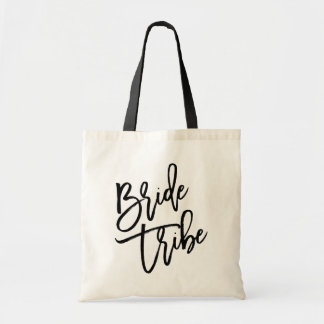 Bride Tribe Black Script Tote Bag