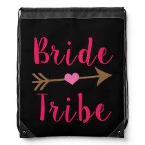 Bride Tribe Bridesmaid back pack Drawstring Backpack