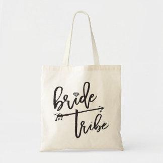 Bride Tribe Brush Diamond Bridal Party Wedding Bag