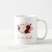 Bride Tribe Coffee Mug - Floral, Roses