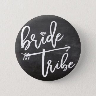 Bride Tribe Diamond Bridal Party Wedding Button