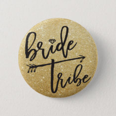 Bride Tribe Diamond Bridal Party Wedding Button at Zazzle