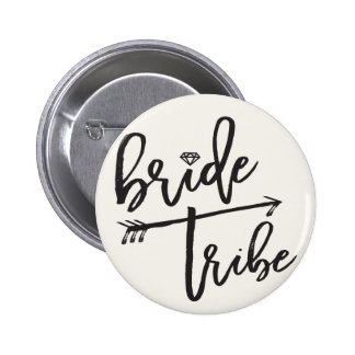 Bride Tribe Diamond Bridal Party Wedding Button