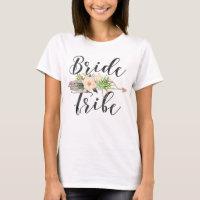 Bride Tribe | Feather Arrow,Floral Arrow T-Shirt