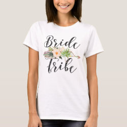 Bride Tribe | Feather Arrow,Floral Arrow T-Shirt