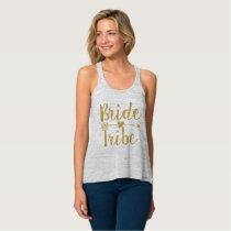 Bride Tribe   Glitter-Print Tank Top
