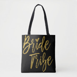 Bride Tribe Gold and Black Wedding Party Bag