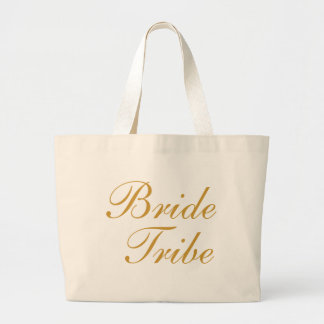 Bride Tribe Gold Large Tote Bag