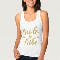 Bride Tribe   Golden Glitter-Print Tank Top