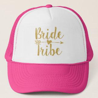 Bride Tribe|Golden Glitter-Print Trucker Hat