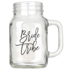 Bride Tribe Mason Jar at Zazzle