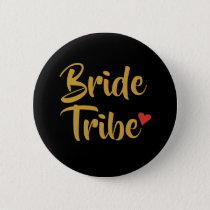 Bride Tribe Red Heart Button