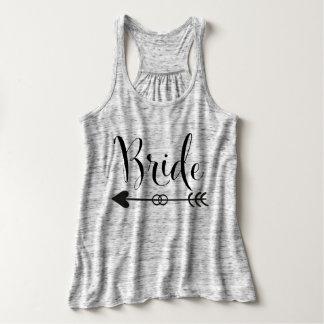 Bride Tribe Series BRIDE BLACK MARBLE Tank Top