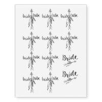 Bride tribe - Temporary tattoo