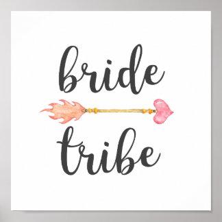 Bride Tribe Tribal Heart Arrow Poster