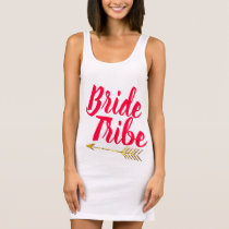 Bride Tribe Typography Calligaphy Hand Lettered Sleeveless Dress