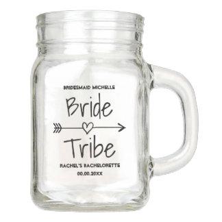 Bride Tribe wedding party favor mason jars