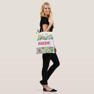 Bride Tropical Beach Destination Wedding Tote Bag