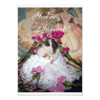 Bride Trudy Rat Invitation