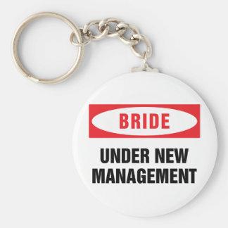 Bride under new management keychain