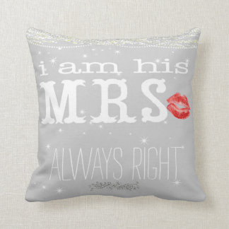 Bride Under the Stars Always Right Accent Pillow