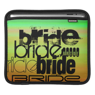 Bride; Vibrant Green, Orange, & Yellow Sleeves For iPads