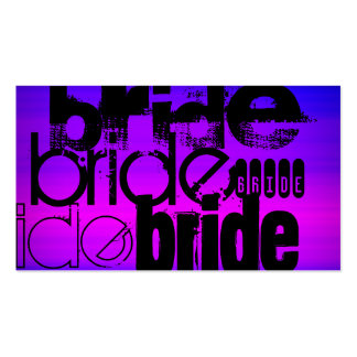 Bride; Vibrant Violet Blue and Magenta Pack Of Standard Business Cards