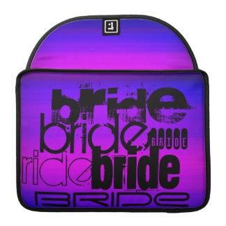 Bride; Vibrant Violet Blue and Magenta Sleeves For MacBooks