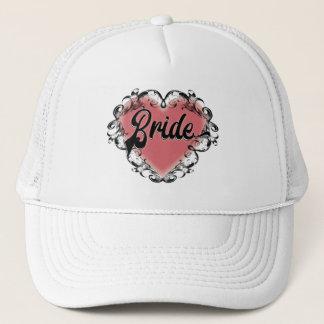 Bride Vintage Heart Tattoo Trucker Hat