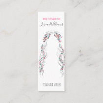 Bride Wavy hair floral wreath Hairstyling branding Mini Business Card