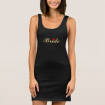 Bride Wedding Bachelorette Party Black Tank Dress