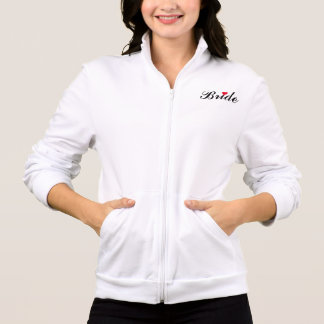 Bride Wedding Bachelorette Party Red Heart Script Jacket