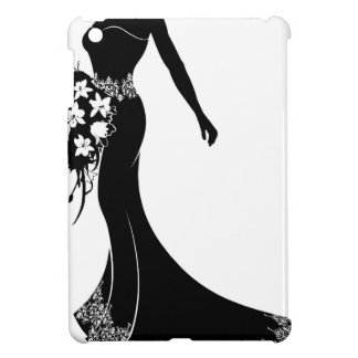 Bride Wedding Bouquet Silhouette iPad Mini Cases