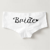 Bride Wedding Boy Shorts Undergarment
