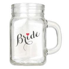 Bride Wedding Bridal Shower Bachelorette Party Mug Mason Jar at Zazzle