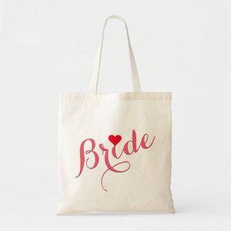 Bride Wedding Bridal Shower Elegant Slim Tote Bag